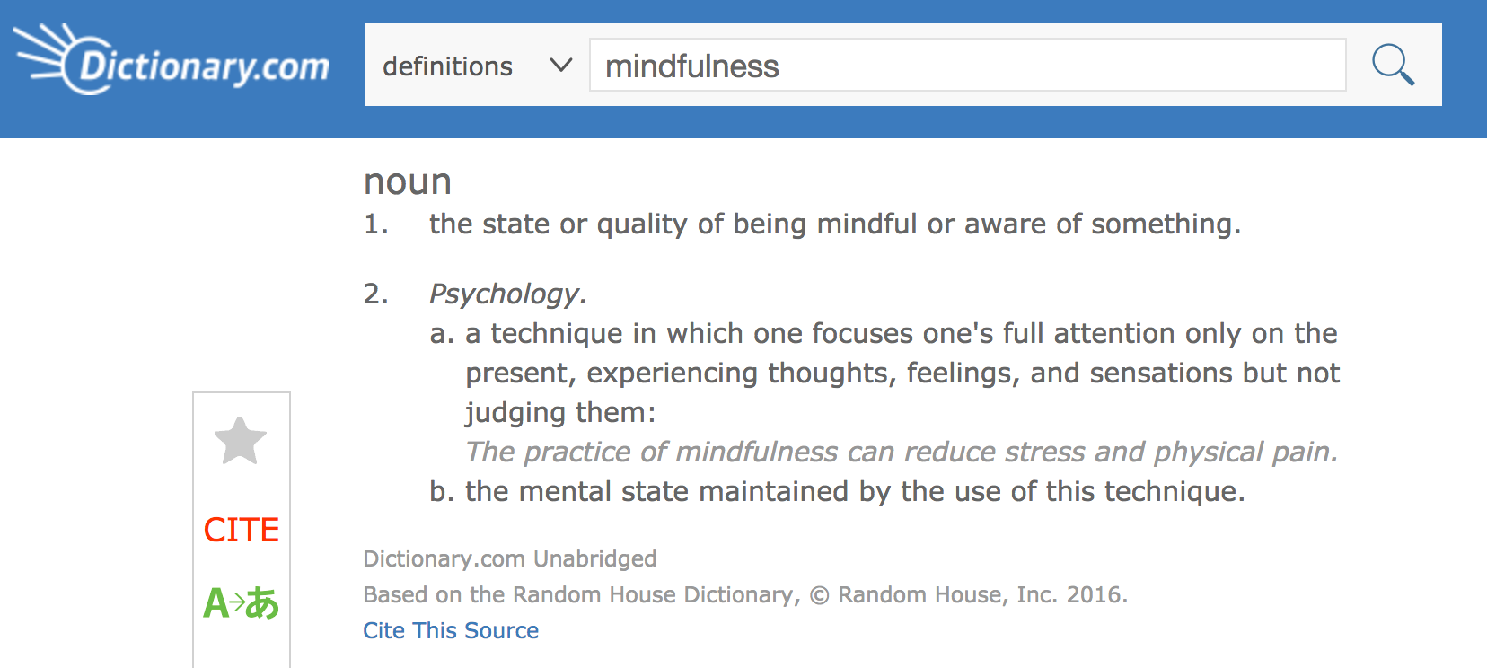 mindfulness_on_dictionary.com